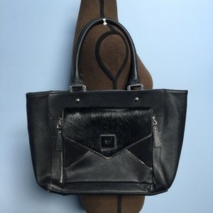 Sharif Faux Calf Hair & Leather Shopper Tote
